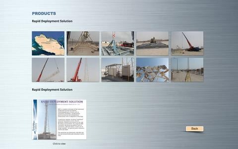 Screenshot of Products Page dfitelecom.com - dfitelecom, engineering, ingénierie, pylon, monopole | PRODUCTS - captured May 12, 2017