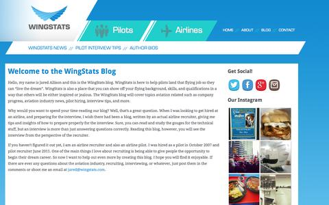 Screenshot of Blog wingstats.com - Welcome to the WingStats Blog | WingStats - captured Aug. 14, 2015