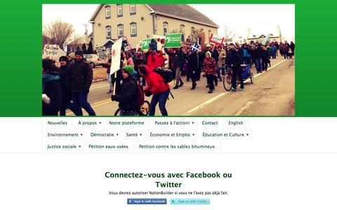 Screenshot of Login Page nationbuilder.com - Connexion - captured May 20, 2016