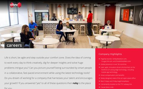 Screenshot of Jobs Page rubylife.com - ruby     Careers - captured July 31, 2018