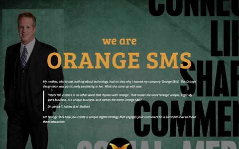 Screenshot of Home Page orange-sms.com - Orange SMS - Social Media Consultant - captured March 2, 2016