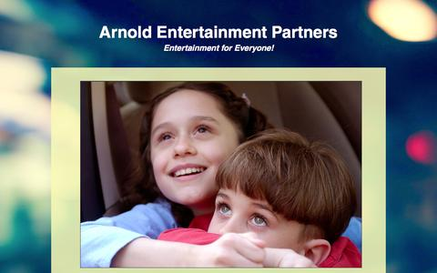 Screenshot of Home Page arnold.tv - Arnold Entertainment Partners - captured Feb. 6, 2016