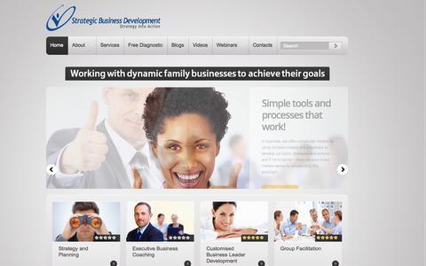 Screenshot of Home Page sbdbusiness.com.au - Strategic Business Development Australia - captured Oct. 7, 2014
