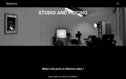 Screenshot of Pricing Page badkamra.co.uk - PRICING – Badkamra - captured Oct. 25, 2018