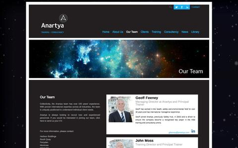 Screenshot of Team Page anartya.com - Our Team - captured Sept. 30, 2014