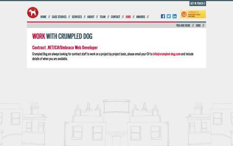 Screenshot of Jobs Page crumpled-dog.com - Work with Crumpled Dog : Crumpled Dog - captured Dec. 13, 2015