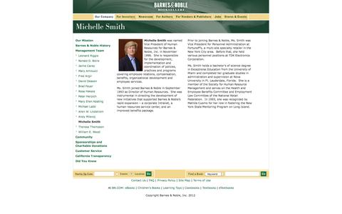Screenshot of Landing Page barnesandnobleinc.com - Barnes & Noble Booksellers - captured Aug. 14, 2016