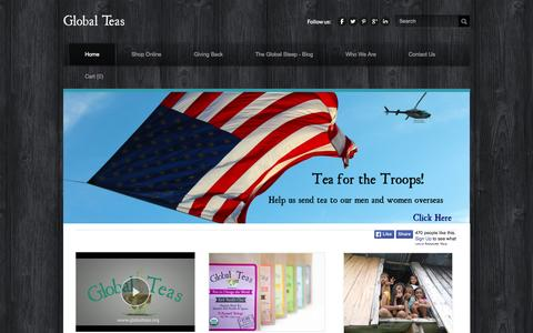 Screenshot of Home Page globalteas.org - Global Teas - Teas to Change the World - captured June 17, 2015