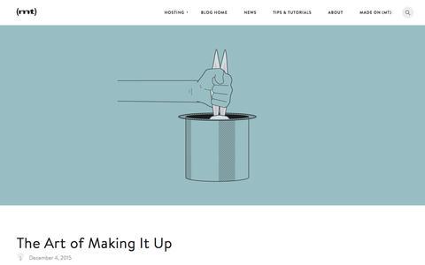 Screenshot of Blog mediatemple.net - The Art of Making It Up - The Media Temple Blog - captured Dec. 8, 2015