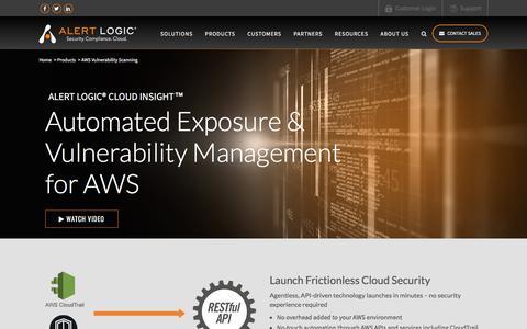 AWS Vulnerability Scanning & Configuration Exposure Management   Alert Logic