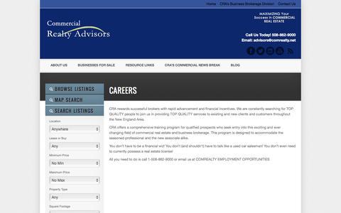 Screenshot of Jobs Page comrealty.net - Careers - captured Jan. 29, 2016