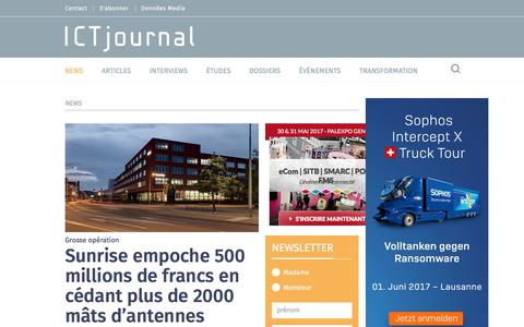Screenshot of Press Page ictjournal.ch - News | ICTjournal - captured May 26, 2017