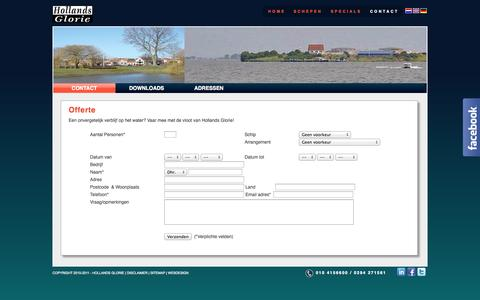 Screenshot of Contact Page hollandsglorie.nl - Hollands Glorie - Contactgegevens Hollands Glorie - captured Sept. 30, 2014