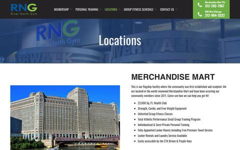 Screenshot of Locations Page rivernorthgym.com - Chicago   Our Locations   River North Gym - captured Nov. 7, 2018