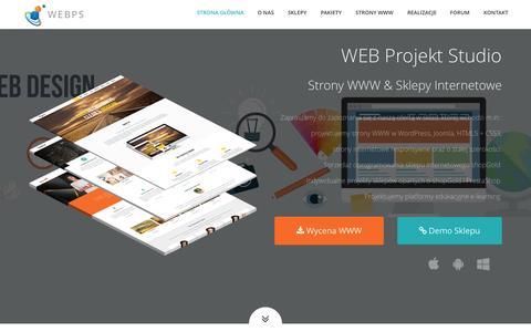 Screenshot of Home Page webprojekty.eu - WEB Projekt Studio | Strony RWD | Sklepy Internetowe | E-learning | Hosting - captured Sept. 1, 2015
