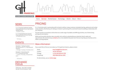 Screenshot of Pricing Page ghfinancials.com - Pricing - captured Oct. 28, 2014