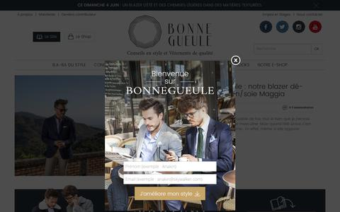 Screenshot of Home Page bonnegueule.fr - BonneGueule : Mode Homme et Conseils en Style Masculin - captured June 2, 2017