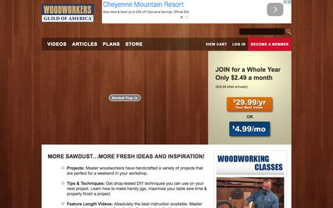 Screenshot of Signup Page wwgoa.com - Join wwgoa.com - WoodWorkers Guild of America - captured Nov. 4, 2014