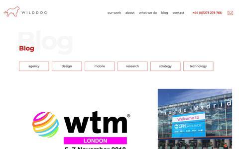 Screenshot of Blog wilddogdesign.co.uk - Read our blog - Wild Dog Design - captured Nov. 10, 2018