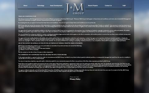 Screenshot of Terms Page jmmre.com - Terms of Use - captured Oct. 3, 2014
