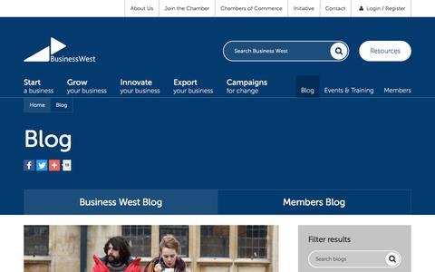 Screenshot of Blog businesswest.co.uk - Blog | Business West - captured June 3, 2017