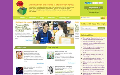 Screenshot of Blog manthan.com - Fresh: The Newest Ideas in Retail Decision Making - captured Oct. 28, 2014