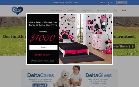 Screenshot of Home Page deltachildren.com - Delta Children's Products | Delta Children - captured June 10, 2017