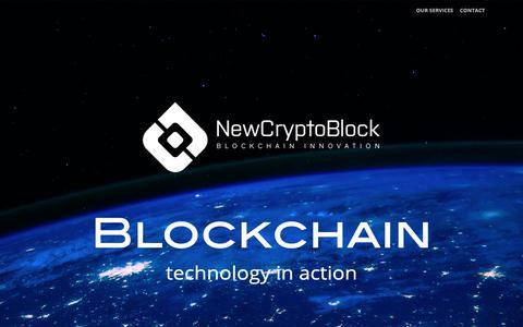 Screenshot of Home Page newcryptoblock.io - NewCryptoBlock - Blockchain Technologies - captured Oct. 22, 2018