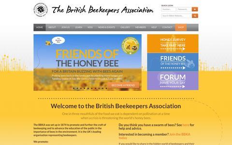 Screenshot of Home Page bbka.org.uk - British Beekeepers Association (BBKA) - captured Sept. 22, 2014