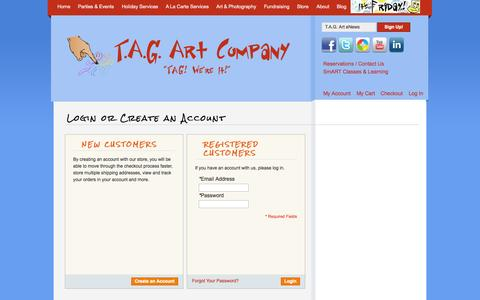 Screenshot of Login Page tagartcompany.com - Customer Login Event Entertainment - captured Oct. 6, 2014