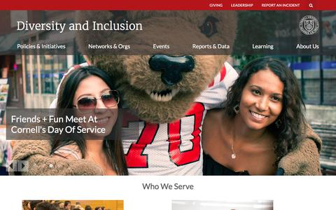 Welcome | Cornell University Diversity and Inclusion