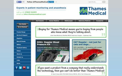 Screenshot of Home Page thamesmedical.com - Vital Signs Monitors for healthcare professionals, Sussex > 		Thames Medical - captured Feb. 25, 2016