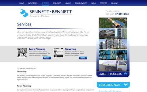 Screenshot of Services Page bennettandbennett.com.au - Services | Bennett + Bennett - captured Oct. 5, 2014
