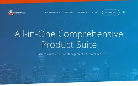 Screenshot of Products Page netfortris.com - NetFortris Products - captured Aug. 17, 2019