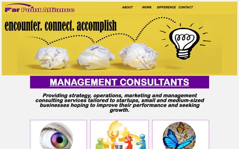 Screenshot of Home Page farpointalliance.com - Small Business Management Consulting Services | The FarPoint Alliance - captured Sept. 26, 2016