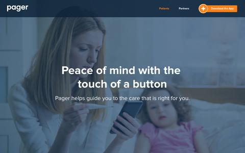 Pager | Better access to healthcare