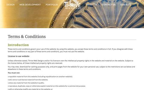 Terms and Conditions | Boise Web Design | Thrive Web Designs