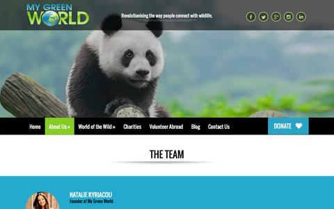 Screenshot of Team Page mygreenworld.org - The Team | My Green World | Wildlife Education - captured Jan. 11, 2016