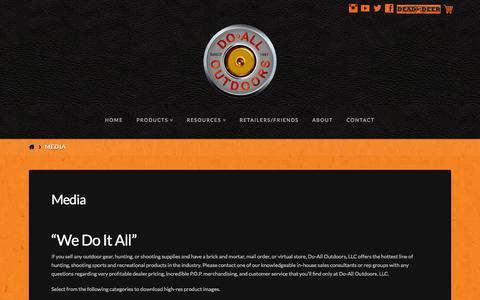 Screenshot of Press Page doalloutdoors.com - Media | Do All Outdoors - captured Sept. 30, 2014