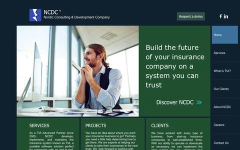 Screenshot of Services Page ncdc.eu - NCDC - captured Aug. 17, 2015