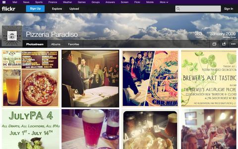 Screenshot of Flickr Page flickr.com - Flickr: Pizzeria Paradiso's Photostream - captured Oct. 22, 2014