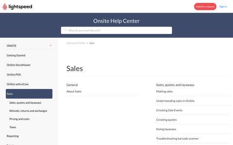 Sales – Lightspeed OnSite