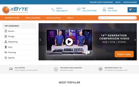 Screenshot of Home Page xbyte.com - Home page - captured March 2, 2019