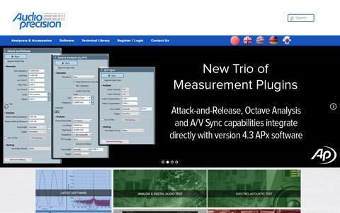 Screenshot of Home Page ap.com - Home - Audio PrecisionAudio Precision - captured Nov. 17, 2016