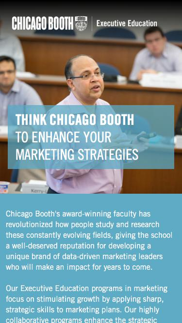 Executive Education at Chicago Booth | Marketing Programs