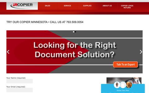 Screenshot of Trial Page minnesotacopiers.com - Try our copier Minnesota • Call us at 763.509.0054 - Copier Printer Sales Repair RentalsCopier Printer Sales Repair Rentals - captured Oct. 2, 2018