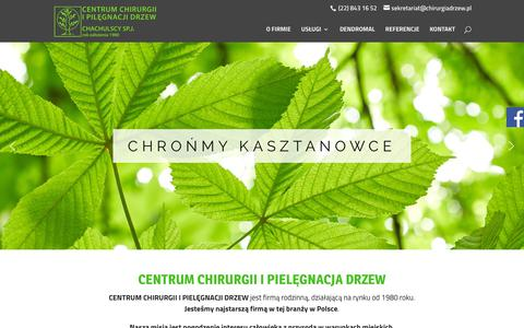 Screenshot of Home Page chirurgiadrzew.pl - Centrum Chirurgii i Pielęgnacji Drzew | - captured Oct. 27, 2018