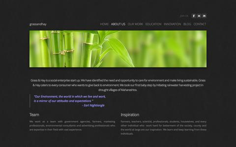 Screenshot of About Page weebly.com - About Us - grassandhay - captured Sept. 17, 2014