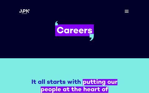 Screenshot of Jobs Page apnoutdoor.co.nz - APN Outdoor - Careers - captured Oct. 2, 2018