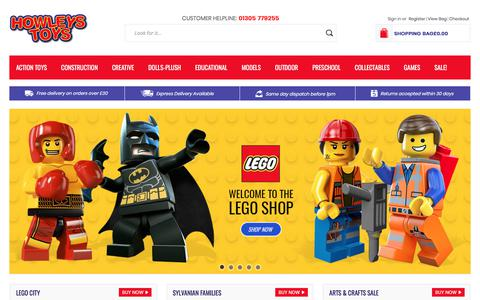 Screenshot of Home Page howleys.co.uk - Howleys Toys | Thousands Of Brands At Great Prices| Search Now! - captured Sept. 14, 2017